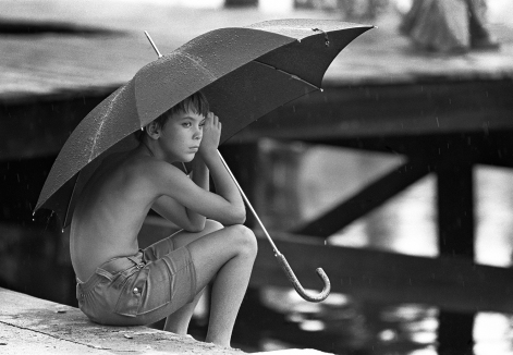 Boy and Umbrella